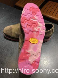 ピンクのビブラムソール