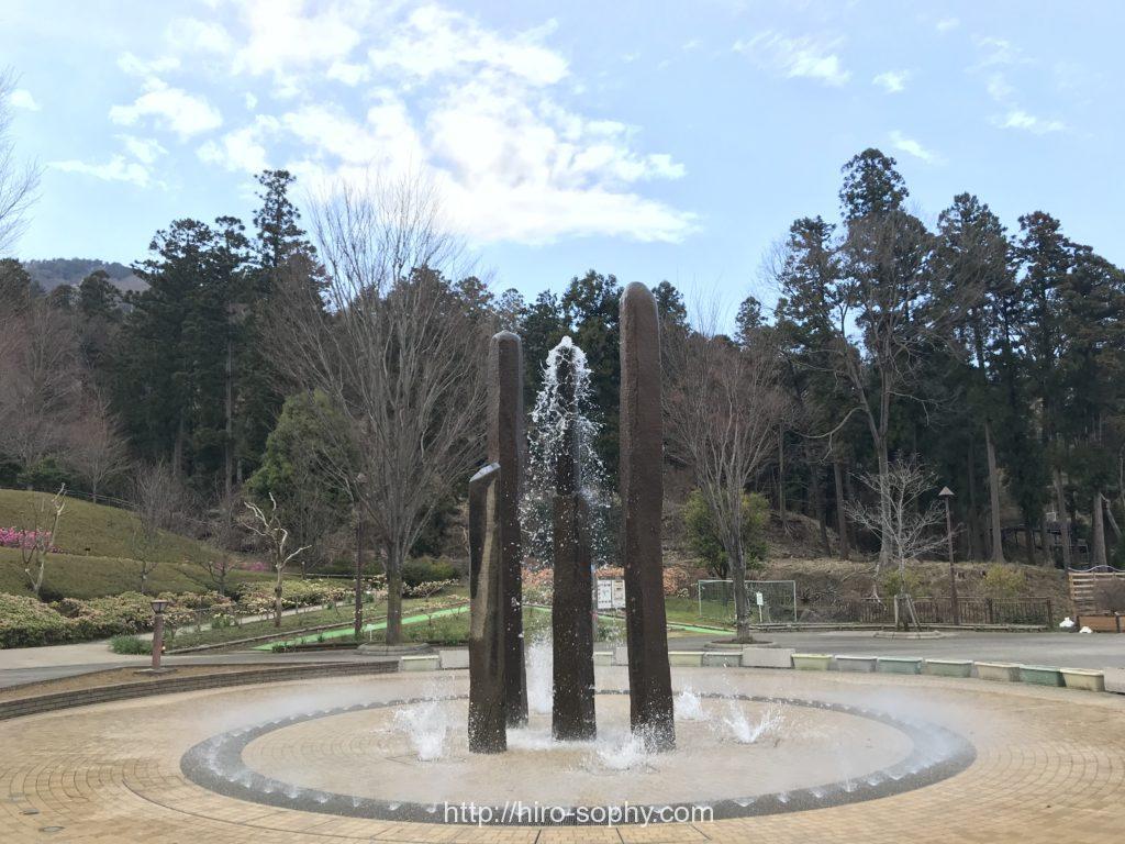 あいかわ公園の噴水