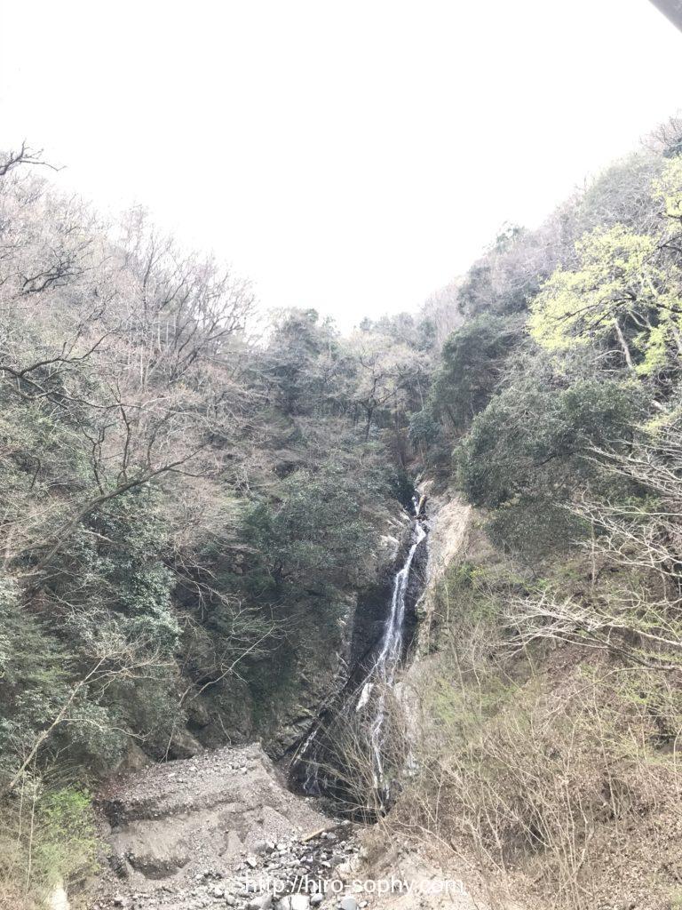 宮ヶ瀬ダム周辺の山の様子