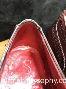 革靴の腰裏