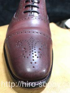 クリーナーを使った後の革靴