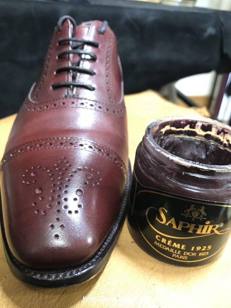 油性クリームと革靴