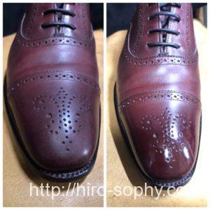 靴磨きのビフォーアフター