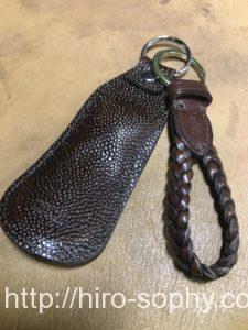 茶色の携帯靴べら