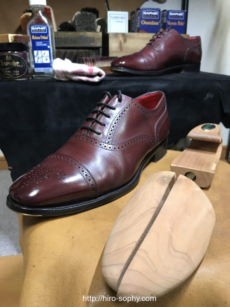 革靴とシューツリー