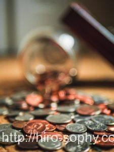 コインが溢れ出ている