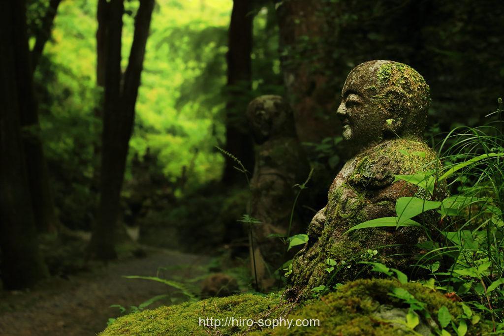 森の中の地蔵