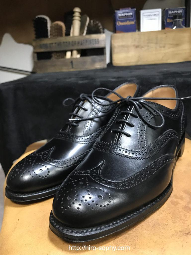 プレメンテナンス完了した革靴