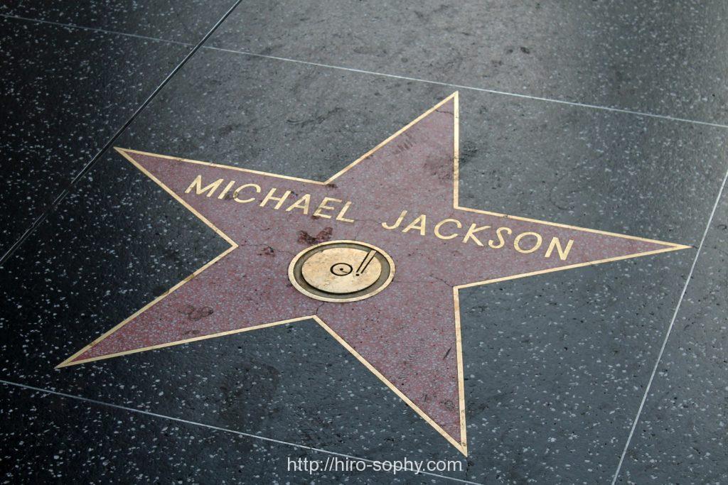 マイケルジャクソンの文字