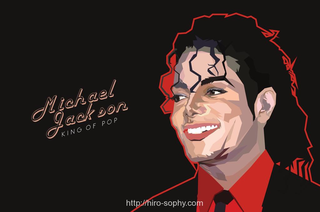 マイケルジャクソンのイラスト