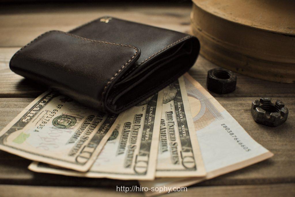お札と革財布