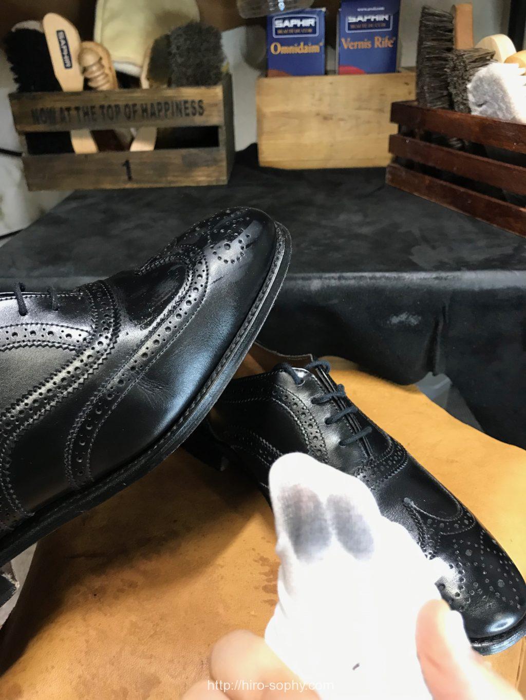 革靴についた汚れ