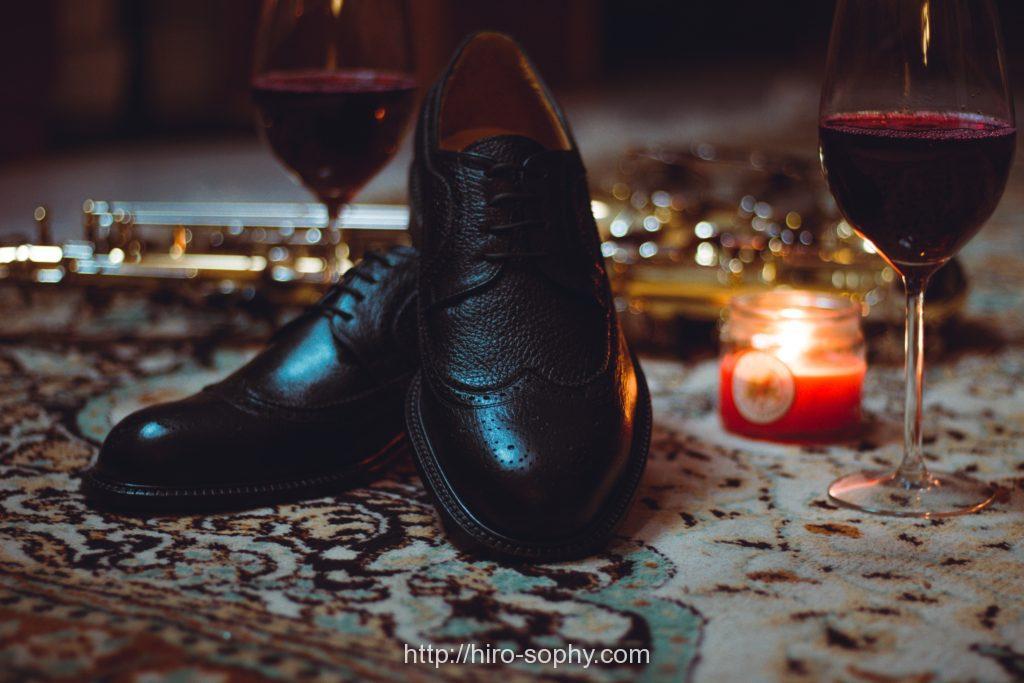 ワインと革靴